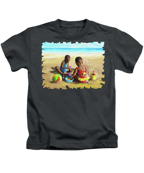 Little Girls At The Beach Kids T-Shirt