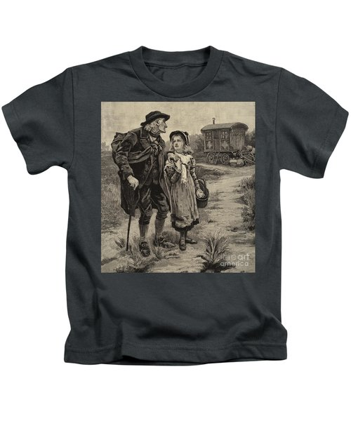 Little Nell And Her Grandfather  Kids T-Shirt