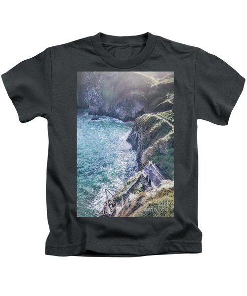 Living On The Edge Of The World Kids T-Shirt