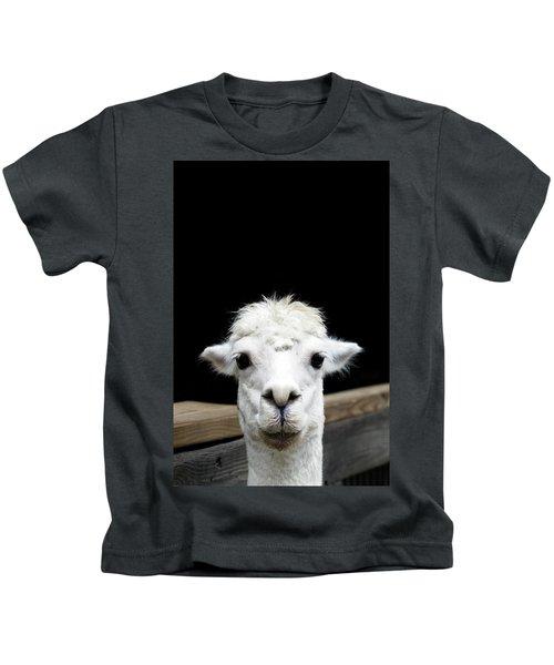 Llama Kids T-Shirt by Lauren Mancke
