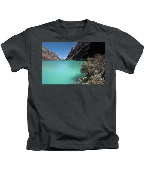 Llanganuco Lakes In Cordillera Blanca Kids T-Shirt