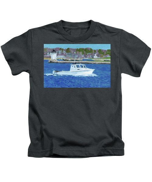 Lobster Boat And Bug Light Kids T-Shirt