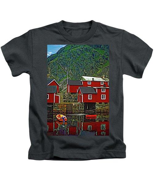 Lofoten Fishing Huts Kids T-Shirt