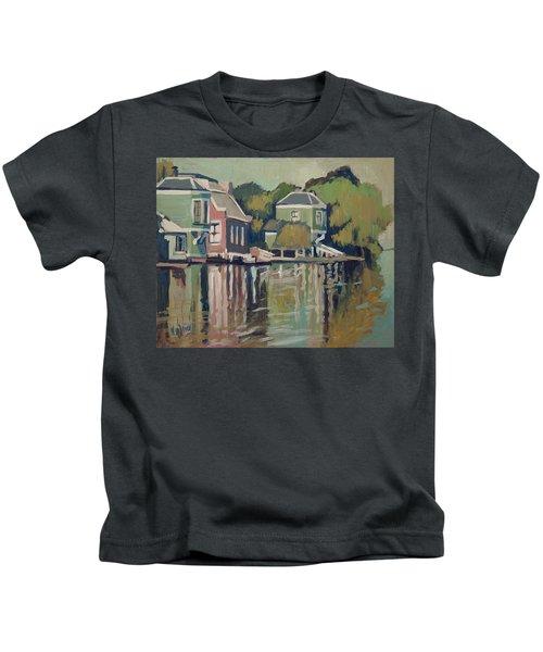Lofts Along The River Zaan In Zaandam Kids T-Shirt by Nop Briex