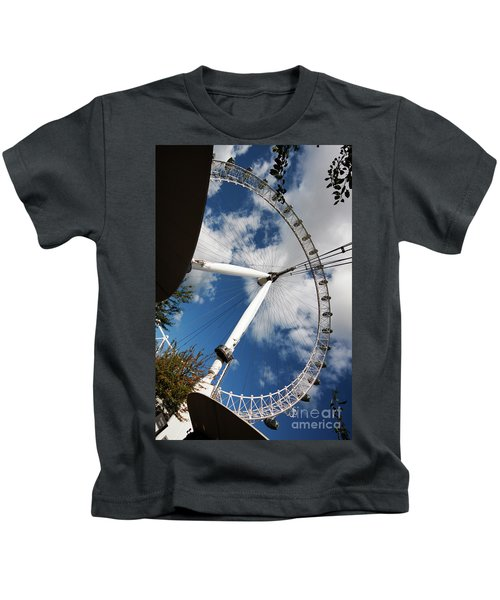 London Ferris Wheel Kids T-Shirt