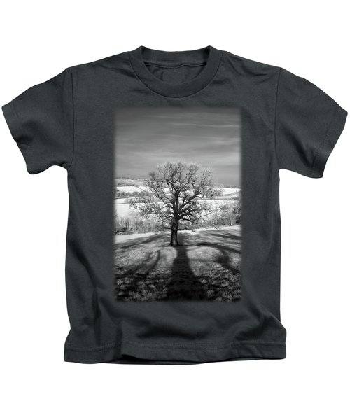 Lone Tree Over The East Somerset Railway Kids T-Shirt