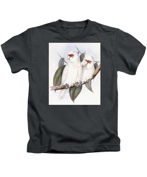 Long-billed Cockatoo Kids T-Shirt by John Gould
