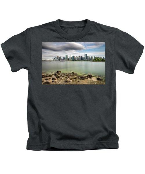Long Exposure Of Vancouver City Kids T-Shirt