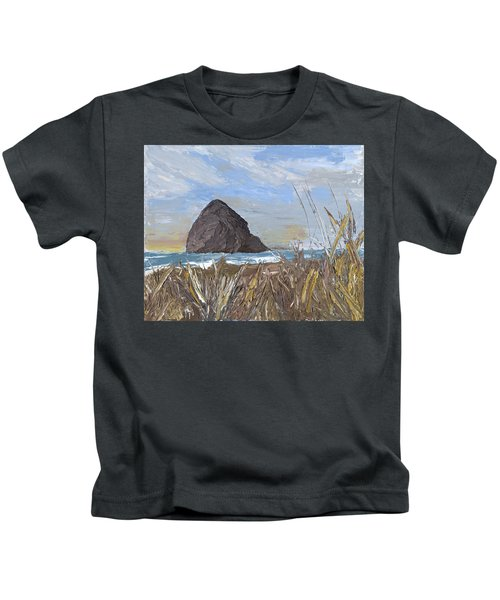 Longing For The Sounds Of Haystack Rock Kids T-Shirt
