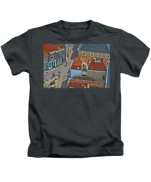 Looking Down From The Church Tower In Brielle Kids T-Shirt