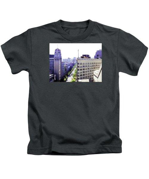 Looking Down Market Kids T-Shirt