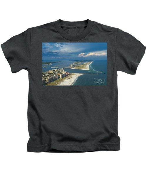 Looking East Across Perdio Pass Kids T-Shirt