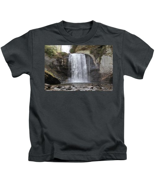 Looking Glass Falls Front View Kids T-Shirt