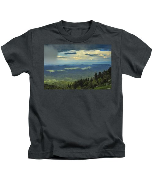 Looking Over The Valley Kids T-Shirt