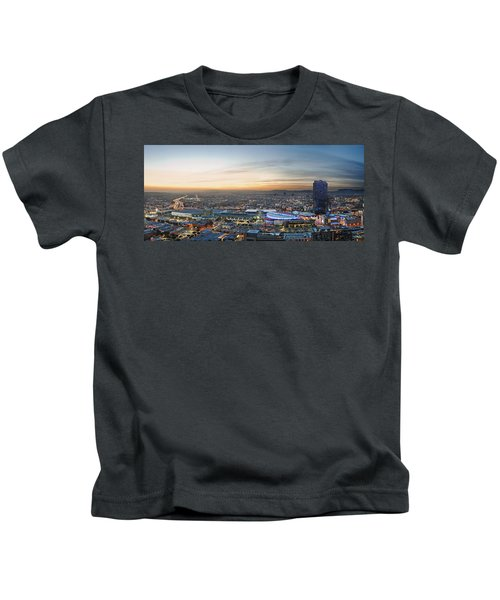 Los Angeles West View Kids T-Shirt by Kelley King