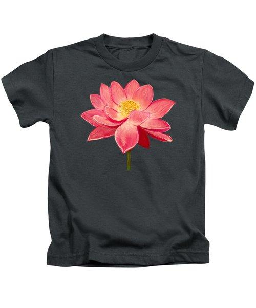 Lotus Flower Kids T-Shirt by Anastasiya Malakhova