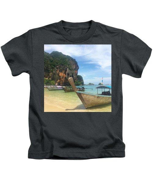 Lounging Longboats Kids T-Shirt