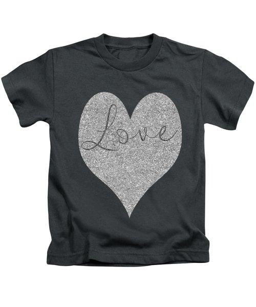 Love Heart Glitter Kids T-Shirt