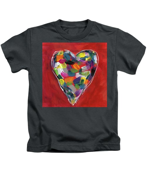 Love Is Colorful - Art By Linda Woods Kids T-Shirt