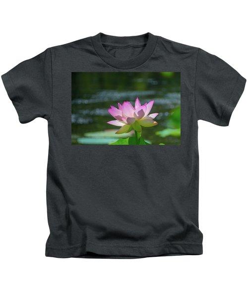 Lovely Lotus In Pink Kids T-Shirt