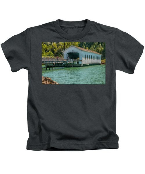 Lowell Covered Bridge Kids T-Shirt