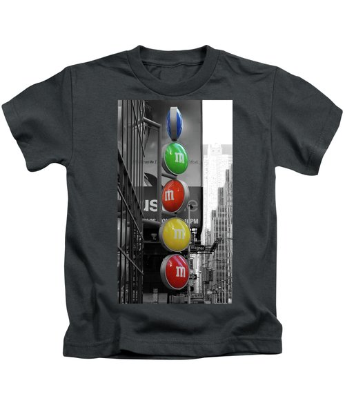 M And Ms In New York City Kids T-Shirt