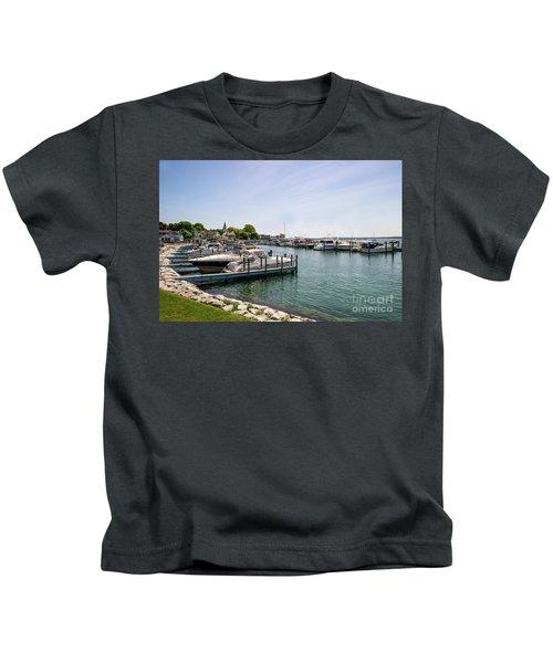 Mackinac Island Marina Kids T-Shirt