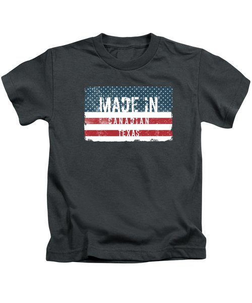 Made In Canadian, Texas Kids T-Shirt