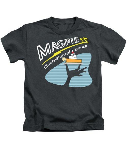 Mag Pies Kids T-Shirt by Luis Pangilinan