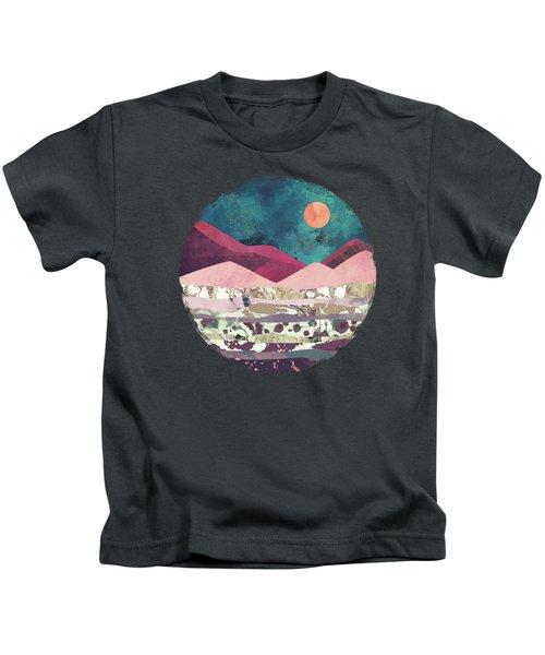 Magenta Mountain Kids T-Shirt
