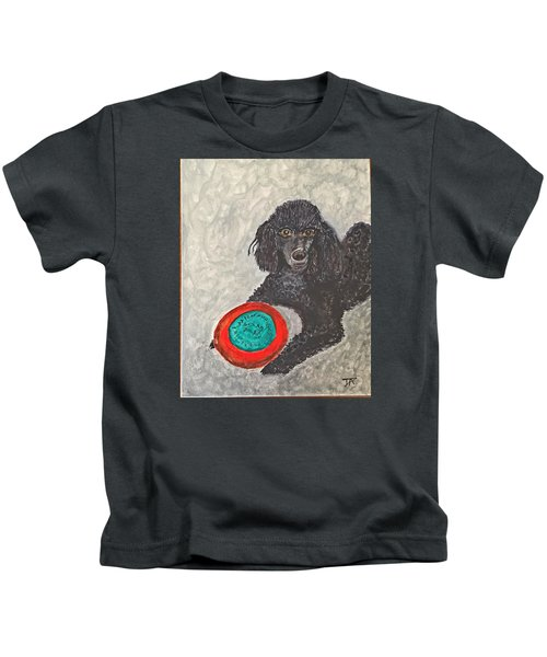 Maggie And Her Frisbee Kids T-Shirt