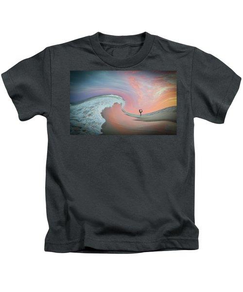 Magical Beach Sunset Kids T-Shirt