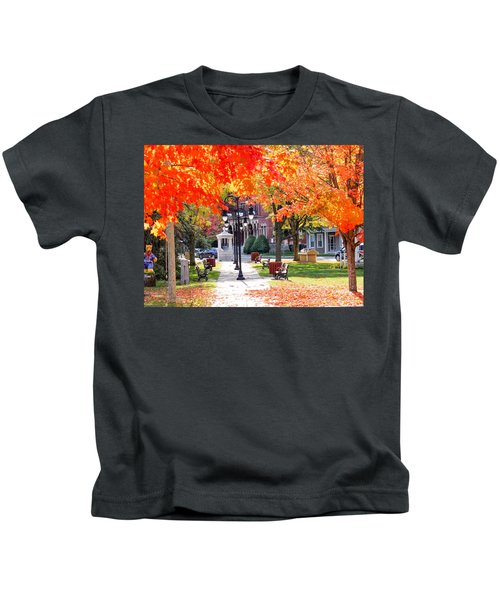 Main Street In The Fall Kids T-Shirt