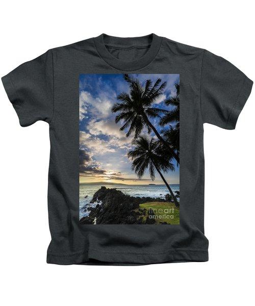 Makena Maui Hawaii Sunset Kids T-Shirt