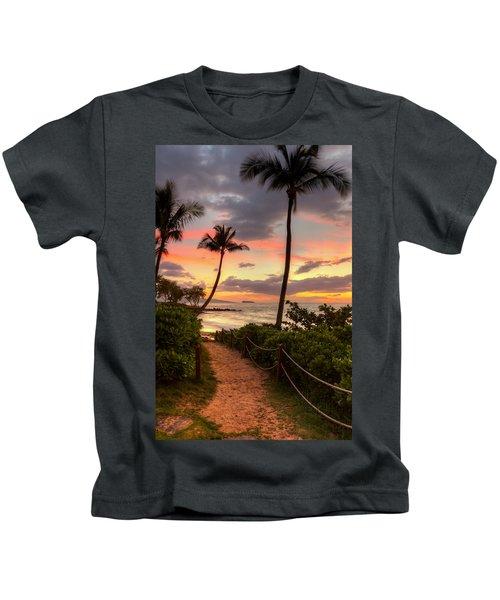 Makena Sunset Path Kids T-Shirt