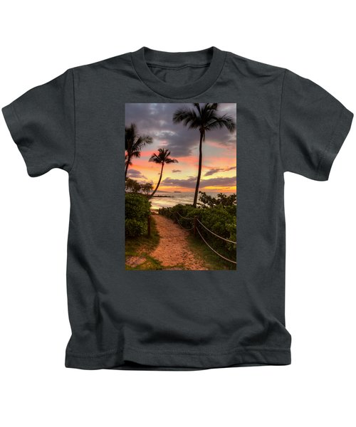 Makena Sunset Path Kids T-Shirt