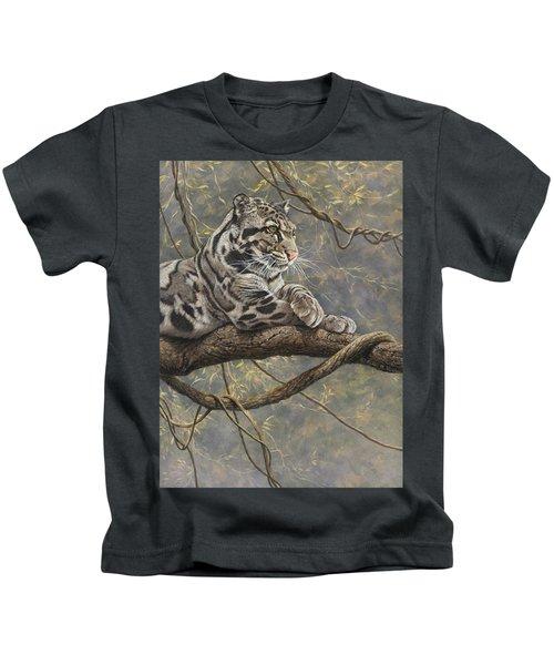Male Clouded Leopard Kids T-Shirt