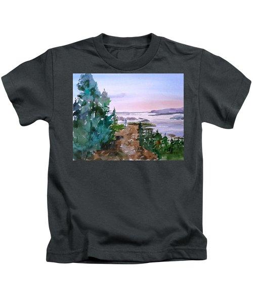 Man At Fraser Lake Bc Kids T-Shirt