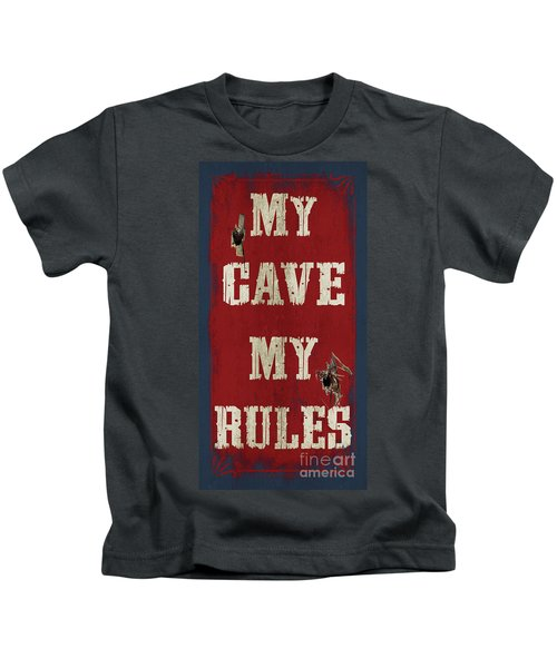 Man Cave Rules Kids T-Shirt