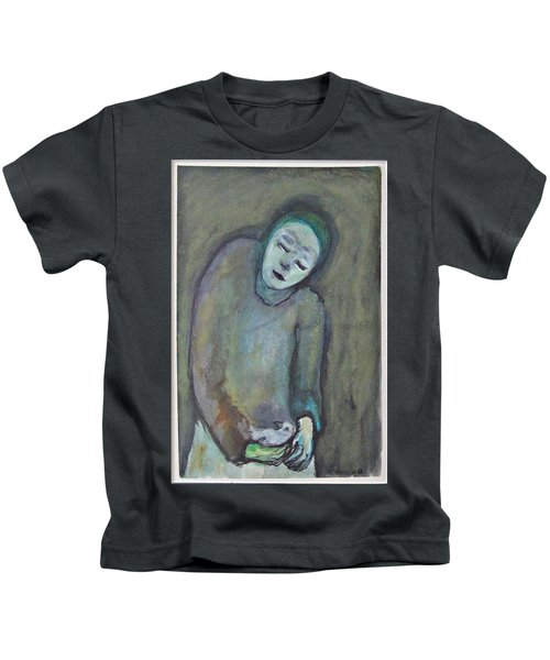 Man Holding Bird Kids T-Shirt