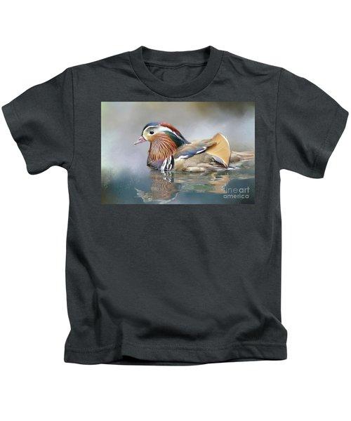Mandarin Duck Swimming Kids T-Shirt