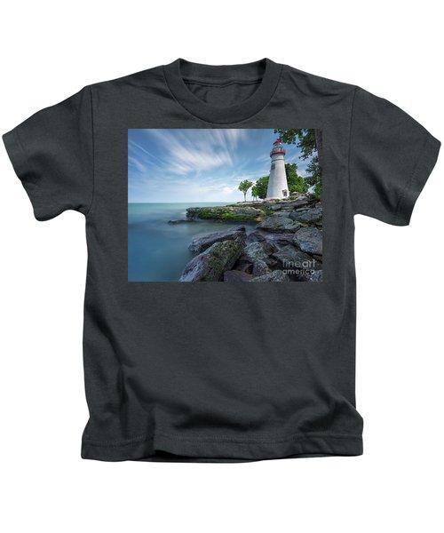 Marblehead Breeze Kids T-Shirt by James Dean