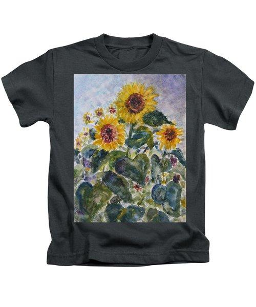 Martha's Sunflowers Kids T-Shirt