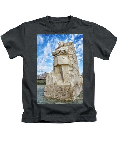 Martin Luther King Jr Memorial Vertical Kids T-Shirt