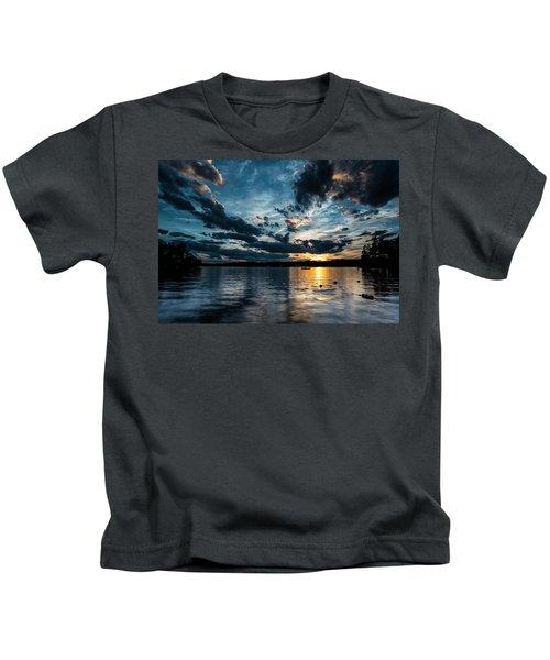 Masscupic Lake Sunset Kids T-Shirt