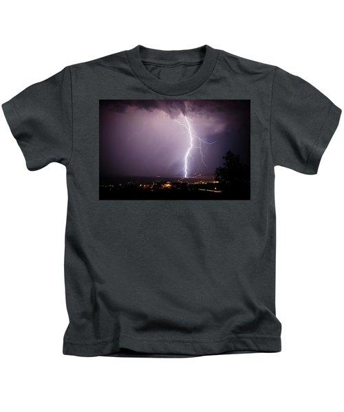 Massive Lightning Storm Kids T-Shirt