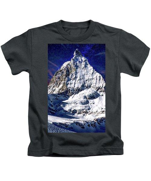 Matterhorn At Twilight Kids T-Shirt