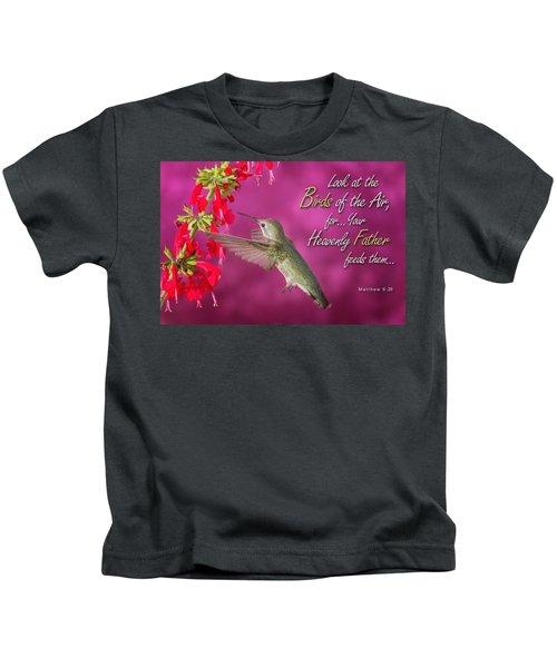 Matthew 6 26 Kids T-Shirt