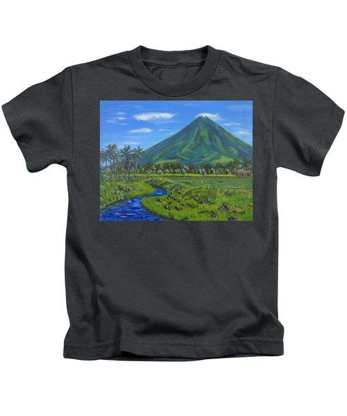 Mayon Volcano Kids T-Shirt