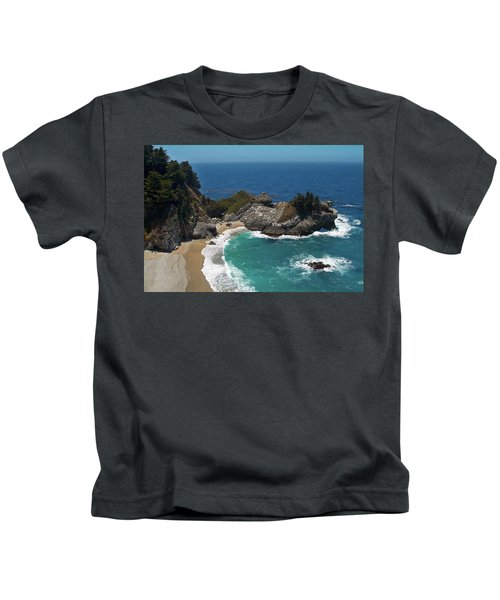 Mcway Falls In Big Sur Kids T-Shirt
